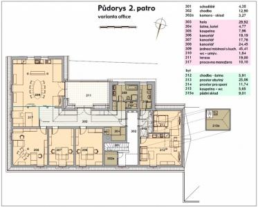 Kovářova 39 - pronájem kanceláří - 2. patro